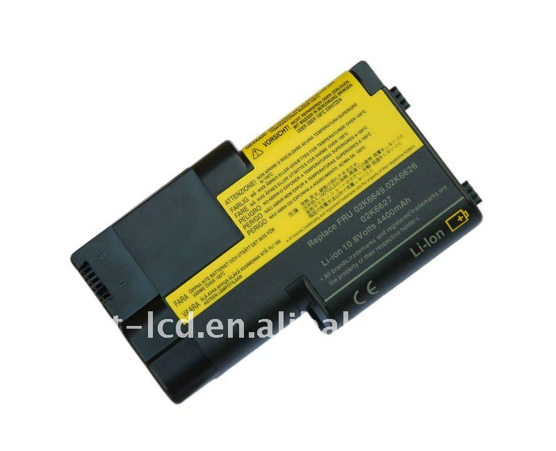 replacement rechargeable li-ion laptop battery for IBM T20