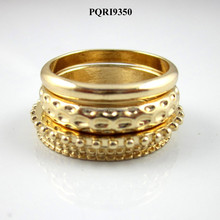 Wholesale fashion delicate simple gold finger ring set jewelry