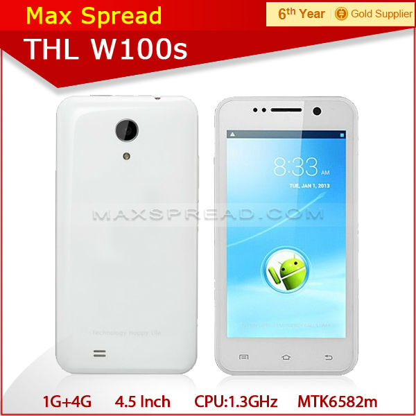 In Stock! THL W100 4.5 inch QHD screen MTK6589 android phone quad core THL W100s