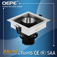 Square Sharp 100x100mm cutout ceiling mounted led down light hotel light