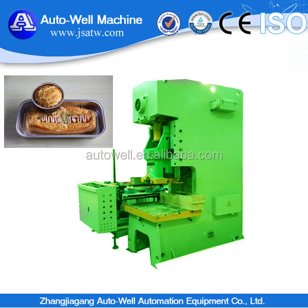Material wastes small aluminum foil food container production line with scrap baler