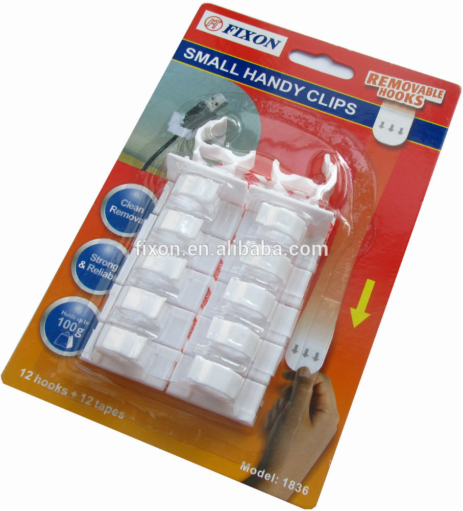 2015 new design white removable plastic cable clip for sale