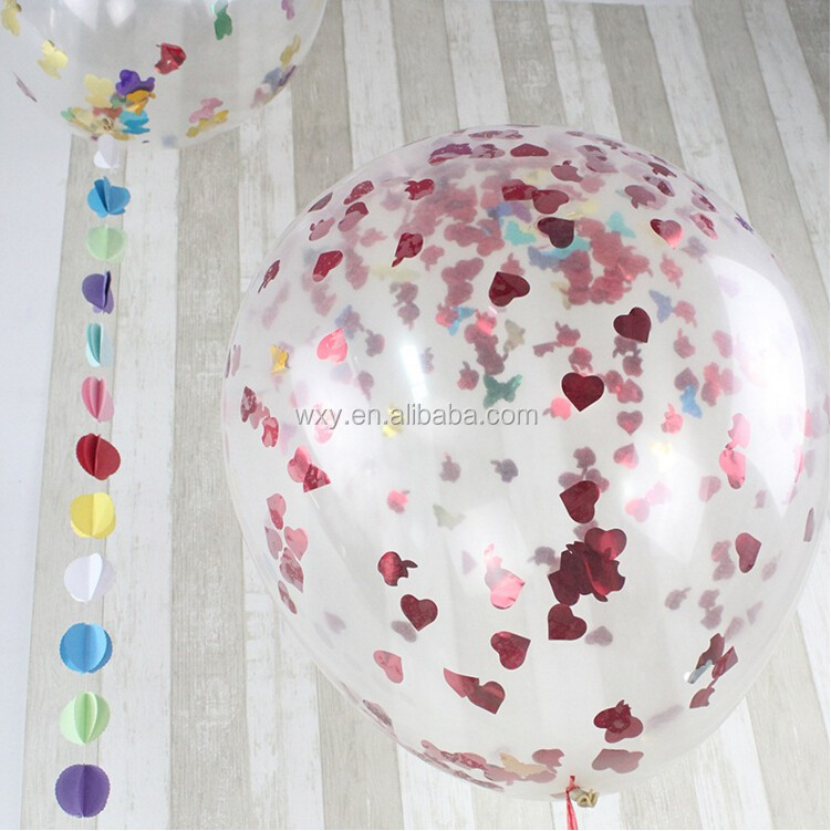 36 Inch Giant Clear Confetti Party Ideas Balloon Valentines Day Wedding Party Decoration