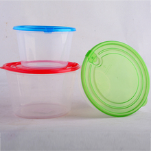 2 in1 Air Vent Clear Round Plastic Food Container with Lid