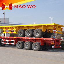 China new 3 axles flatbed semi-trailer for hot sale