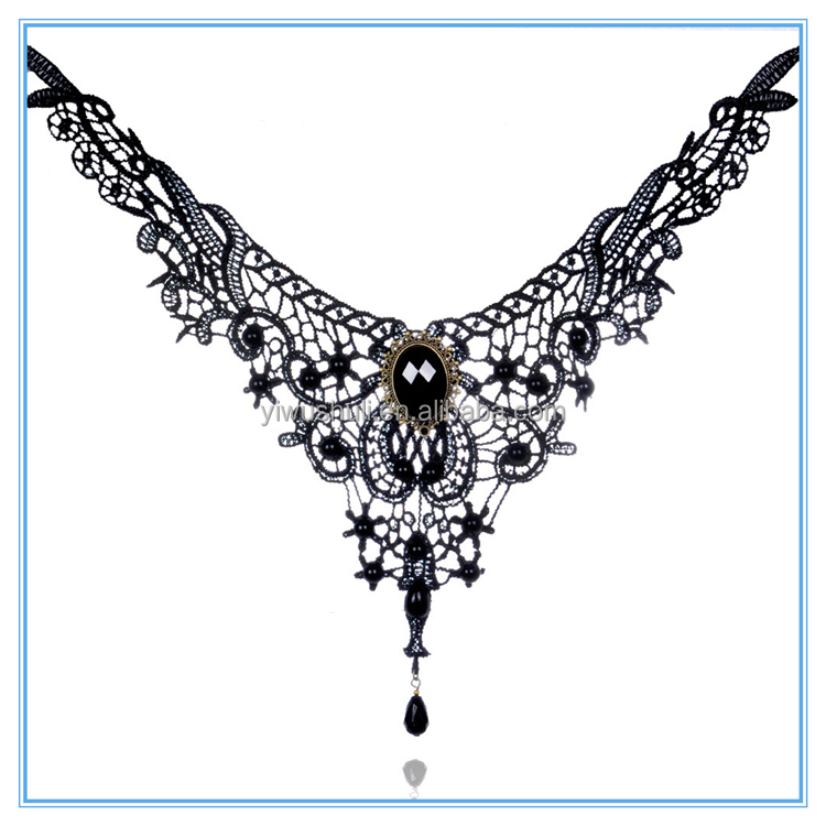 European and American exaggerated all-match New Lace choker Necklace creative large collar jewelry