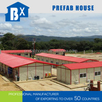 prefabricated residential houses in the construction site