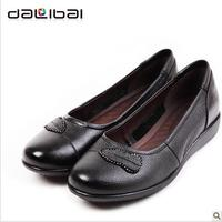 DALIBAI leave pattern decoration name brand women dress shoes in black