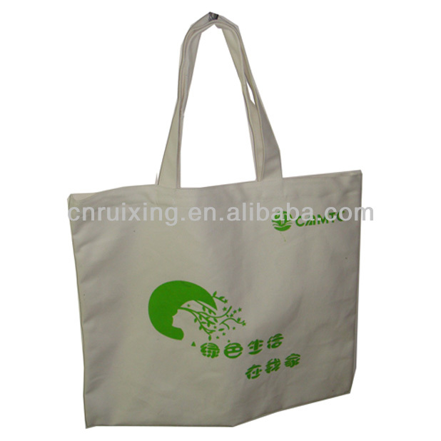 handle canvas printed bags
