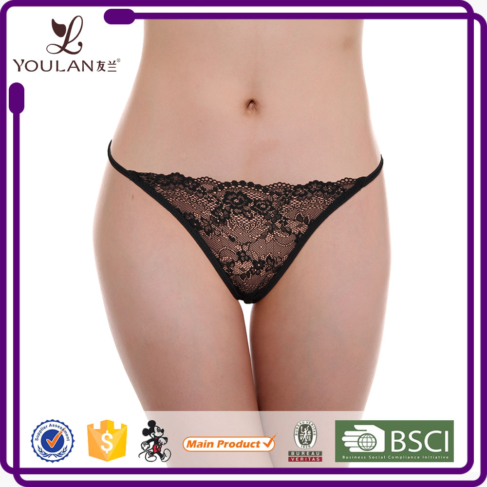 Best Selling Fantastic Mature Lady Erotic Transparent Black Fancy Underwear Women Panty Sexy Ladies Pictures