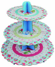 3 tire corrugated cupcake stands