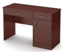 Simple design melamine wooden computer desk, dark browm student writing deck (SZ-OD360)