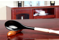 classical black colour Nature Organic Horn food Spoon