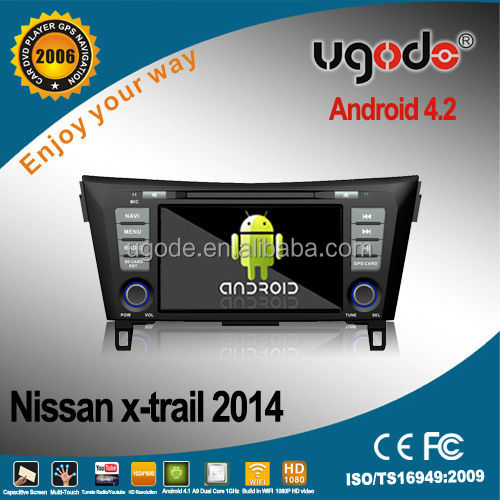 wholesale factory price 8'' touch screen car radio car dvd player for Nissan X-Trail Qashqai Rogue