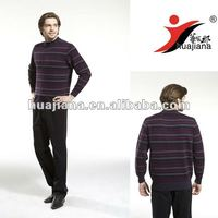 fashion design men's crewneck 100% cashmere knitwear