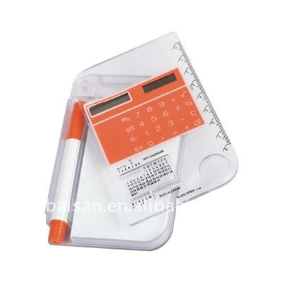 Solar Calculator with book calculator with writing pad calculator with notepad