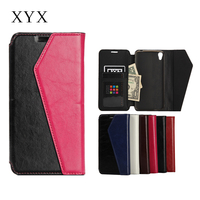 Cute color leather cover case for alcatel one touch idol 3 5.5