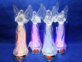 2016 newest design acrylic angel with LED changing color and Christmas music