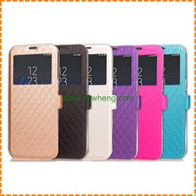 New Arrival Quilting Open Window Tpu Leather Stand wallet phone case for Samsung Galaxy S8