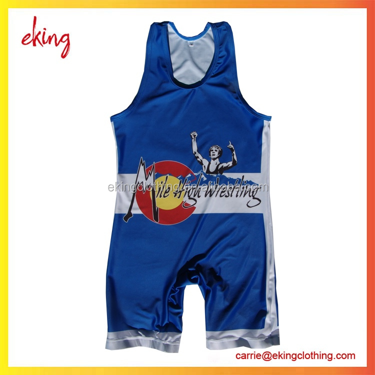 Custom Wresting Singlets High Quality Nylon-Spandex Wrestling Wear