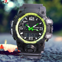 classic outdoor PVC/ABS mens watches cheap custom logo led wrist watch