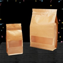 Kraft paper bag without handles for milk powder,ziplock stand up kraft paper bags for food