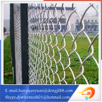 With strong overseas support protective fence with galvanized chain link fence panel