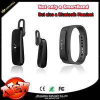 2015 Superior Touch Screen Smart Wristband Bracele Wearable Smartband Bluetooth 4.0 With Earphone