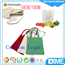 Promotion Gift Bag Woman Handbag Cotton Canvas Tote Bag With Printed Logo