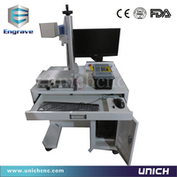 smart and strong enough fiber laser marking machine for printing metal/laser printer for animal ear tag
