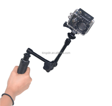 2015 High quality Camera Mount 3-Way Adjustable Bracket Hand Grip Pole Monopod For GoPros