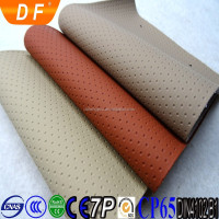 Perforated synthetic pvc leather for car seat