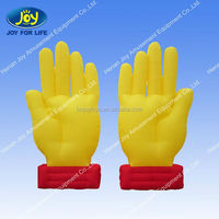 cute design finger shape model,promotional inflatable cheer hand