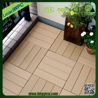 vinyl wood plastic composite decking floor tile price