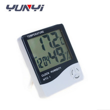 digital Humidity and Temperature Meter with date and time , clock thermometer hygrometer