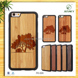 Custom Logo TPU Mobile Phone Case, Wood Cell Phone Case For Iphone 6s