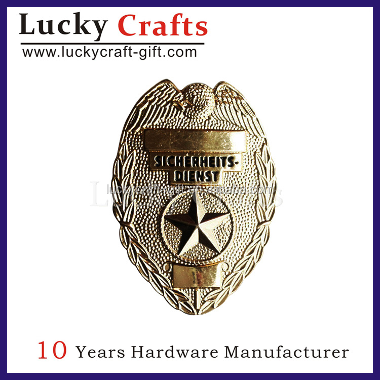 High quality safety officer badges no minimum order quantity