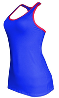 Women's Contrast Color Moisture Wick Fitness Racer Back Tank Top
