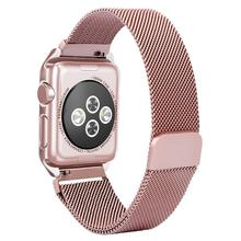 Milanese Loop Magnetic Strap Band for Apple Watch with Case Frame