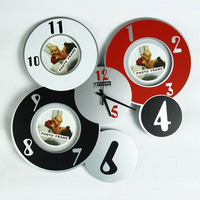 Creative circles Clock photo clock Parlor decorated photo jewelry made from watch parts