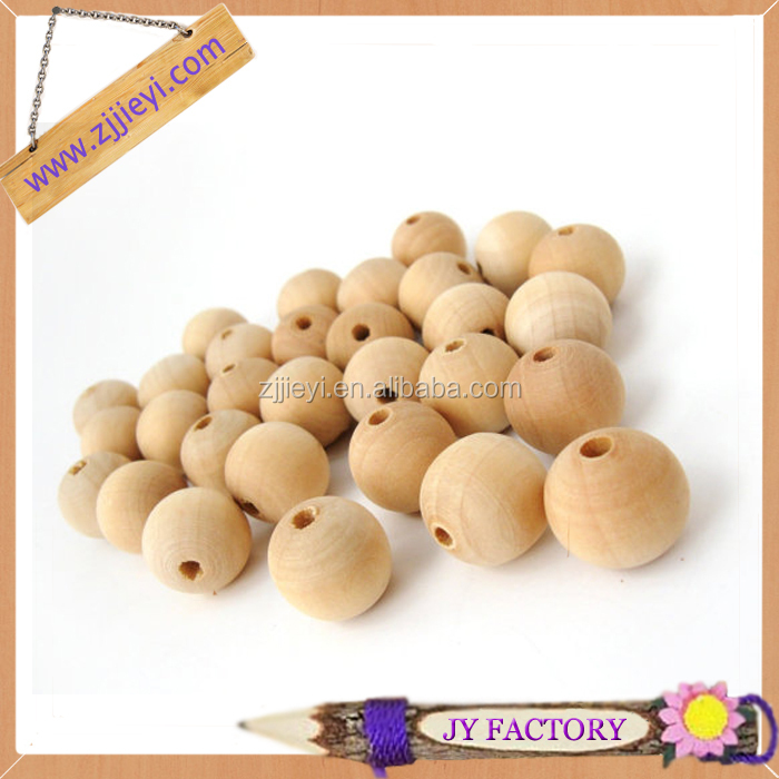 DIY craft accessories wood beads 14mm wooden threading beads wooden craft beads wholesale