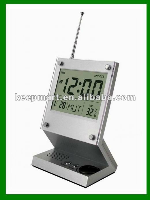Digital FM auto scan clock radio with speaker