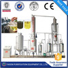 Continuous running used motor oil refining plant