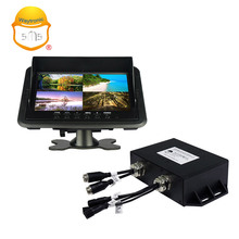 7inch HD LCD display ultrasonic parking sensor system with monitor and camera