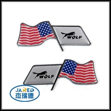 Different Designs ABS and Aluminum Material Car Sticker