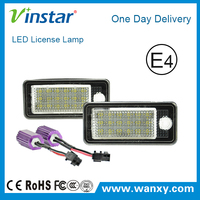 New products led car plate light for audi Q7 TDI A3 A6 8P 4F B6 B7 canbus number plate lamp for Audi with e-mark ce certificates