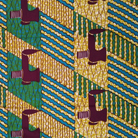 African hollandais wax prints fabric 6 yards 100% cotton digital cotton printed fabrics