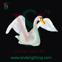 holiday decoration led 3D figures acrylic lighted swan outdoor