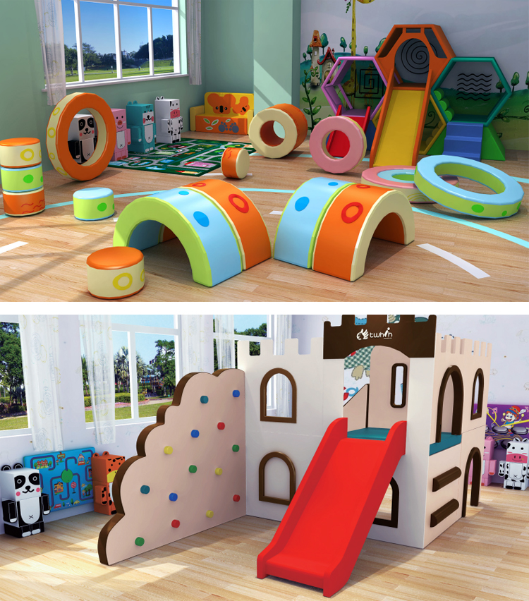 Indoor playground soft play climbing equipment