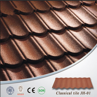 Types of building materials light weight roofing materials Stone coated metal roof tile